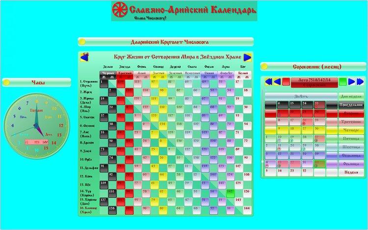 славяно арийский календарь скачать программу